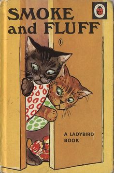 """Mrs Cat was busy knitting, didn't notice soon enough, kittens underneath the table...saucy Smoke and frisky Fluff."""