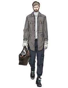 Man Illustration, Fashion Illustration Sketches, Fashion Sketchbook, Fashion Sketches, Illustrations, Style Masculin, Man Sketch, Art Deco Dress, Fashion Figures