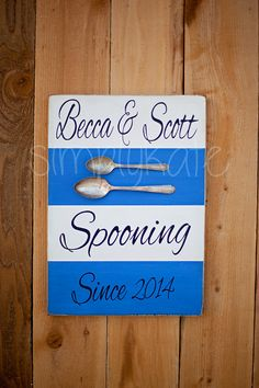 Custom Spooning Since Wedding Anniversary Rustic Vintage Wood Personalized Sign on Etsy, $42.00