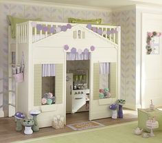 I love the Cottage Loft Bed on potterybarnkids.com... I wish I wish I wish for Lily!