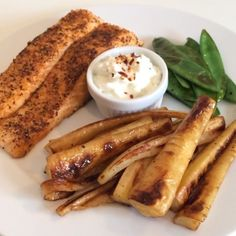 The Body Coach: Salmon with honey fried parsnips in @Lucy Bee oil with @totalgreekyoghurt and chilli dip! #leanin15 #foodie #foodporn #fitfam #fitspo #teamlean2014 #thebodycoach #leanin15 #90daysssplan