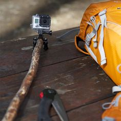 Camp Hack #20: Want to experience life from a stick's perspective? Attach your GoPro to a stick!