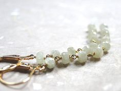 Earrings White Sapphire Dangle Earrings Gemstone by wulfgirl, $69.00