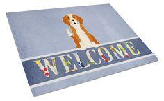 English Foxhound Welcome Glass Cutting Board Large BB5691LCB