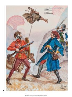 Portuguese Soldiers, The Canary Islands, Century. Middle Ages History, Late Middle Ages, Medieval World, Medieval Fantasy, Historical Art, Historical Pictures, Military Art, Military History, Larp