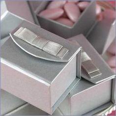 Satin Bow Wedding Favor Boxes