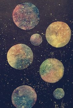 hipster indie Grunge space galaxy nebula planets pastel goth grungy soft grunge