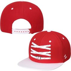 746fe89b0cb Mens Detroit Red Wings Zephyr Red Skate Lacer Adjustable Snapback Hat