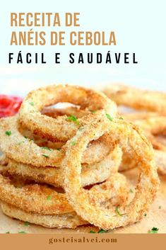 No Salt Recipes, Light Recipes, I Love Food, Good Food, How To Make Hamburgers, Onion Rings, Finger Foods, Dinner Recipes, Appetizers