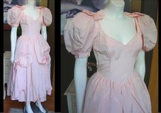 Vintage 1980s Pink Satin Gunne Sax Long Dress Evening Gown Southern Belle Steampunk Victorian Disney Princess Costume Halloween   by WestCoastVintageRSL, $84.00