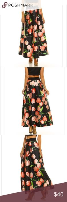 Floral printed maxi skirt New boutique item 🎉Very sassy floral printed maxi skirt with waistband 💋 Prices on boutique items are firm, unless bundled ❤️ Skirts Maxi