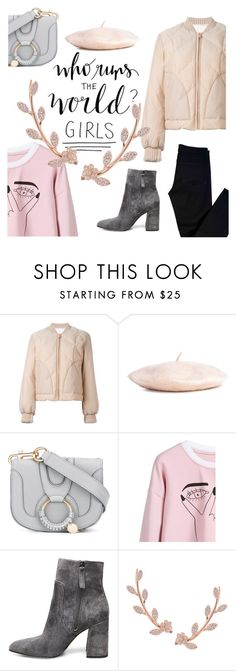 """""""who runs the world?"""" by janesmiley ❤ liked on Polyvore featuring See by Chloé, H&M, Steve Madden, Humble Chic and J Brand"""