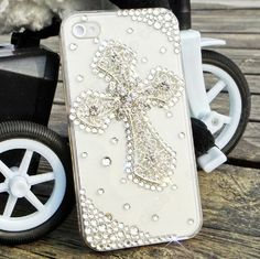 cross Pearl phone case iphone 4 case iphone 4s case by dnnayding, $21.99