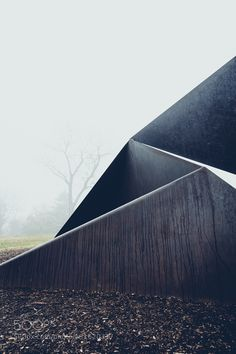 """Crete 1 - Pinned by Mak Khalaf """"Crete"""" by Charles Ginnever ay Laumeier Sculpture Park. Abstract AnglesArtFogLandscapeLaumeier Sculpture ParkParkRainSculptureSteel by tbottchen"""