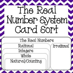 45 Best The Real Number System Images 8th Grade Math Worksheets
