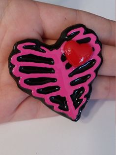 Creepy Cute Horror Pink Skeleton Ribcage Resin by PsychoBoutique