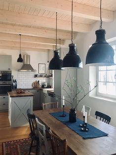 Blue Grey, New Homes, Ceiling Lights, Living Room, Lighting, Kitchen, House, Home Decor, Cooking