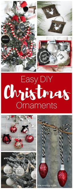 New farmhouse christmas ornaments homemade ideas Farmhouse Christmas Ornaments Diy, Diy Christmas Gifts For Kids, Christmas Projects, Simple Christmas, Handmade Christmas, Holiday Crafts, Christmas Decorations, Garden Ornaments, Diy Ornaments