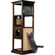 "Vesper By Hagen 41"" Vesper Double Cat Tree & Reviews | Wayfair"
