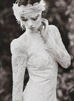 Claire Pettibone 'Toile Francais' wedding gown - Photo: This Modern Romance via @Brandon Green Wedding Shoes / Jen Campbell