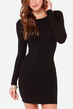 Bodycon Mini Dress Black