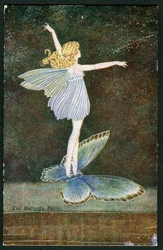 The Butterfly Ferry by Ida Rentoul Outhwaite Australian artist & children's book illustrator Fairy Dust, Fairy Land, Fairy Tales, Kunst Inspo, Illustrator, Arte Fashion, Arte Indie, Kobold, Butterfly Fairy