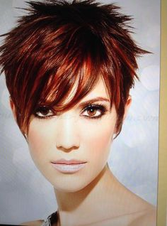 40 Funky Hairstyles To Look Beautifully Crazy Lori Best Pin Pixie Haircut For Thick Hair Beautifully Crazy Funky hairstyles Lori Pin Thick Pixie Cut, Pixie Haircut For Thick Hair, Short Choppy Hair, Short Red Hair, Short Hair Cuts For Women, Long Bangs, Short Cuts, Short Spiky Hairstyles, Short Pixie Haircuts