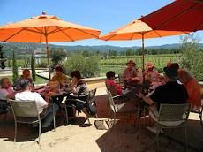 Santa Rosa Wine Club Having Lunch on the Patio.