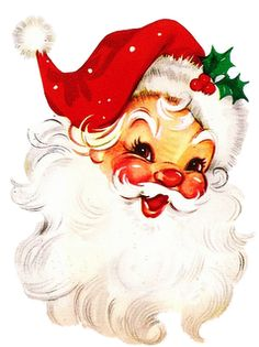 vintage Christmas love his jolly face Noel Christmas, Primitive Christmas, Retro Christmas, Winter Christmas, Christmas Crafts, Father Christmas, Christmas Parties, Christmas Fabric, Christmas Items