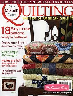 "McCall's Quilting Magazine September/October 2013 Issue Cute ""So Sweet Pattern in book"