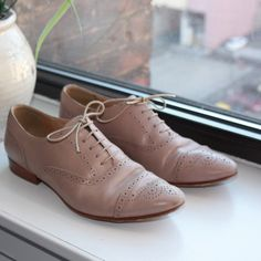 J. Crew Oxford Flats These J. Crew Oxford shoes have only been worn once (I unfortunately bought the wrong size)! Excellent condition and perfect for Spring. Sorry, no trades. J. Crew Shoes Flats & Loafers