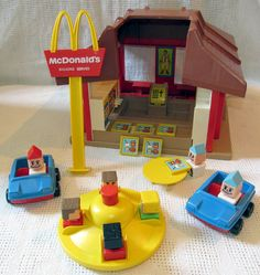 Vintage Playskool McDonalds Playset with Box Little People Cars Activity Toy | Always loved playing with this