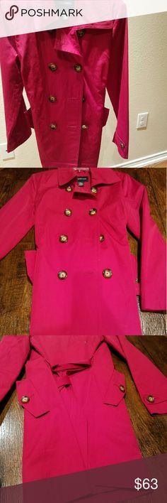 Red rain coat new never worn London Fog rain coat London Fog Jackets & Coats Trench Coats
