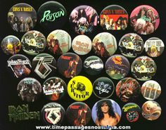 Heavy metal buttons | 30) Heavy Metal Music Pins & Pin Back Buttons - TPNC