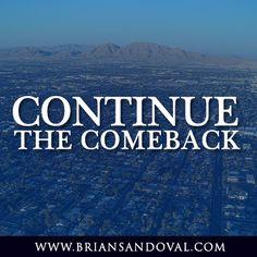 Join the Comeback Team: http://briansandoval.com/volunteer