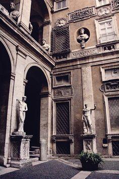Palazzo Mattei di Giove where Caravaggio lived in Rome, 2012