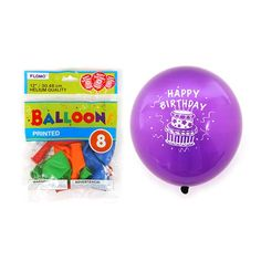 12 Inch Happy Birthday Printed Balloons/Case of 288 Tags:  Balloons; Birthday; birthday decorations;birthday Balloons; https://www.ktsupply.com/products/32795331091/12-Inch-Happy-Birthday-Printed-BalloonsCase-of-288.html