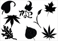 clip art silhouette leaf | leaf silhouette clip art Packcategory: General Vector Graphics