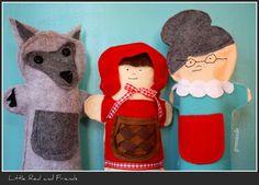 Puppets, Felt, Finger - Little Red Riding Hood, GM, Wolf