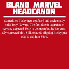 Bland Marvel Headcanon: Bucky accidentally calling Tony Howard. This makes my heart hurt... In a good <<ikr