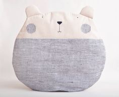 Pillow Bear by JuliaWine on Etsy, $40.00 - Modify this for a 'sit upon.'