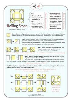 Quilting: Rolling Stone Mini Block