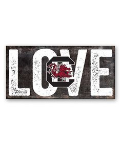 This South Carolina Gamecocks 'Love' Sign is perfect! #zulilyfinds