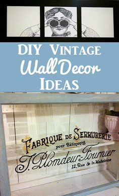 Today I& rounded up 14 Amazing DIY Wall Decor Ideas! All of these wonderful crafts and projects were created using Vintage Graphics from my site. Diy Wand, Decoupage, Diy Locker, Diy Blanket Ladder, How To Make Labels, Bath Bomb Recipes, Diy Headboards, Graphics Fairy, Free Graphics