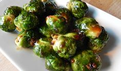 Balsamic Roasted Brussels Sprouts  Ingredients:    1 lb. brussels sprouts, trimmed and cut into quarters  2 tbsp extra virgin olive oil  1 1/4 tbsp balsamic vinegar  1 1/2 tbsp parmesan cheese (preferably fresh grated)  1 tbsp pine nuts (toasted)    Recipe here- http://toneitup.com/blog.php?Balsamic-Roasted-Brussels-Sprouts.-We-LOVE-Food-Friday-5185