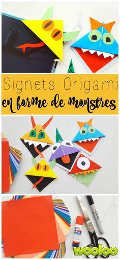 Voici des petits monstres faits de papier à utilise comme marque-page! Voici comment faire vos signets origami en forme de monstre