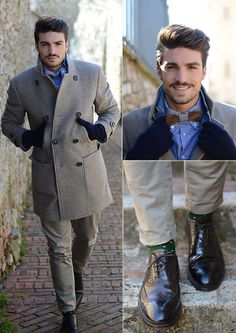 Brunello Cucinelli Mdv Style, Sassetti Shoes, Twoguysbowties Bowtie | Cold Days. (by Mariano Di Vaio) | LOOKBOOK.nu