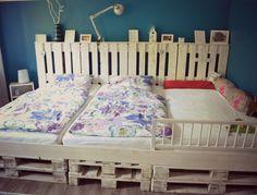 DIY: Familienbett aus Europaletten