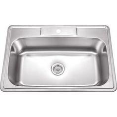 33 X 22 Single Bowl Stainless Steel Kitchen Sink