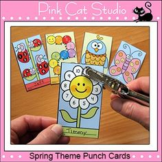 Spring Critters Punch Cards for Behavior Management and Go